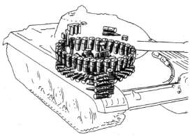 Diagram showing the circular arrangement of ammo underneath the turret